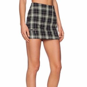 Lovers & Friends Good To Be Bad Plaid Mini Skirt